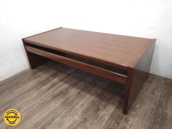 ジャパンビンテージ 木製コーヒーテーブル ローテーブル ●