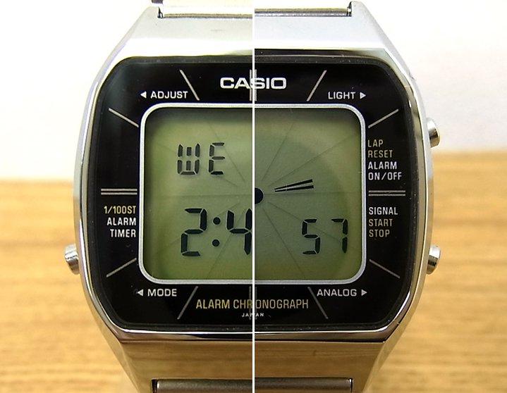 カシオ / CASIO 1980年代初期 2wayデジタルウォッチ A201 デジタルでのアナログ表示がGOOD! ●