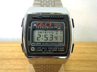セイコー / アルバ 1981年製 デジタルゲームウォッチ Y760-5000 ガンマンゲーム&スロットゲーム ●