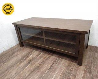 無印良品 MUJI タモ材 木製AVラック TV台 ナチュラル 幅 108cm ■