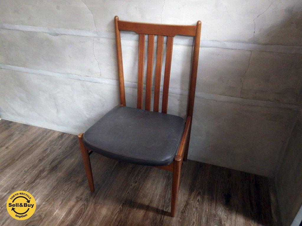 希少! 天童木工 TENDO BRASILEIRA ブラジリアンローズウッド ダイニングチェア 椅子 ① ♪