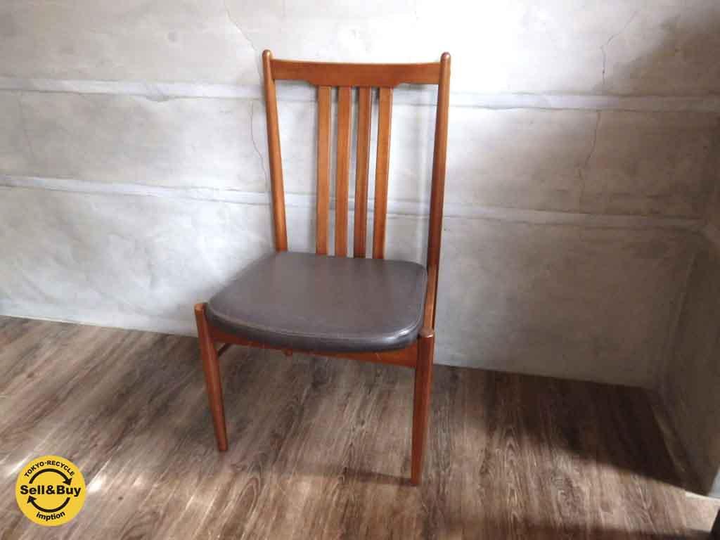 希少! 天童木工 TENDO BRASILEIRA ブラジリアンローズウッド ダイニングチェア 椅子 ③ ♪