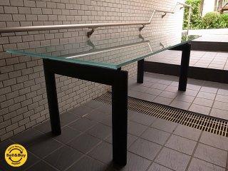 カッシーナ Cassina ixc ル・コルビジェ LC6 ダイニングテーブル フロストガラス 高さ調整可■