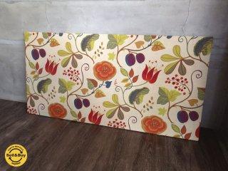 ファブリック パネル アート 植物 花 柄 / 幅119.5cm ♪