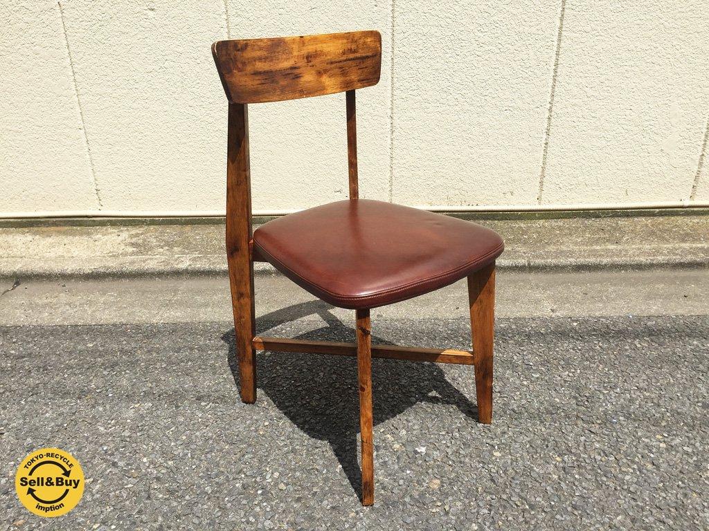 ジャーナルスタンダード journal standard Furniture シノンチェア CHINON chair レザー ブラウン b ◎