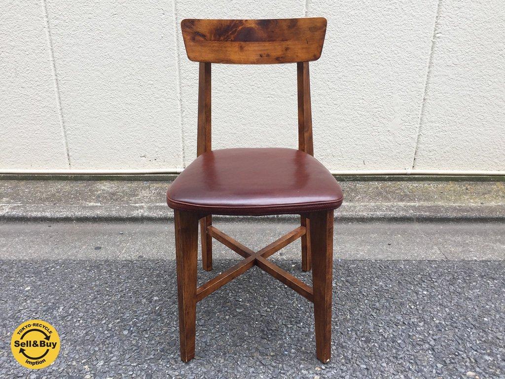 ジャーナルスタンダード journal standard Furniture シノンチェア CHINON chair レザー ブラウン c ◎