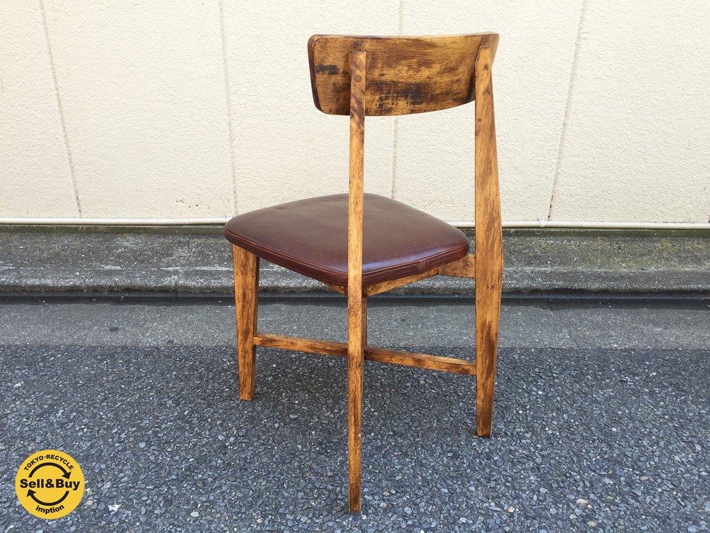 ジャーナルスタンダード journal standard Furniture シノンチェア CHINON chair レザー ブラウン d ◎