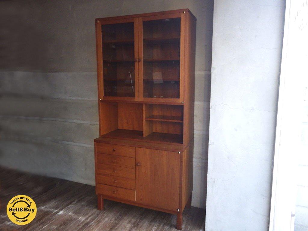 ジャパンビンテージ チーク材 キッチン カップボード 食器棚 ♪