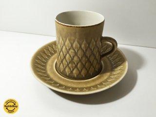 クロニーデン KRONJYDEN レリーフ シリーズ コーヒーカップ&ソーサー a イェンス・クイストゴー ◎