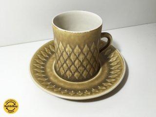クロニーデン KRONJYDEN レリーフ シリーズ コーヒーカップ&ソーサー b イェンス・クイストゴー ◎