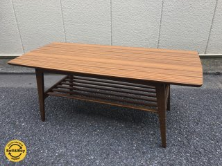 展示美品 カリモク60 karimoku リビングテーブル Lサイズ ウォールナットカラー ミッドセンチュリー ◎