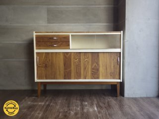 UK Vintage / イギリスヴィンテージ サイドキャビネット チーク材 Fortress Kitchen Furniture ♪