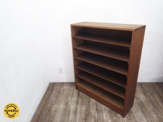 ジャパンビンテージ 古い木味のシェルフ 古材 飾り棚 本棚 ●