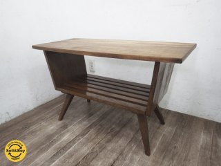 ジャパンビンテージ 古い木味のセンターテーブル 古材 レトロ ●