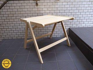 REX/レックス フォールディングテーブル 折畳みテーブル ビーチ材 ■