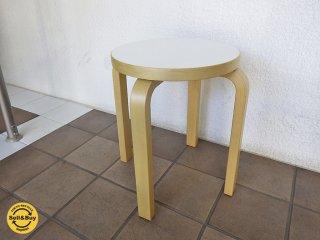 artek アルテック stool E60 スツールE60  ホワイトA◇