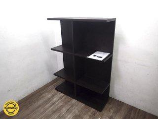 IDC大塚家具取扱 nissin 日進木工 木製シェルフ 本棚 飾り棚 ●