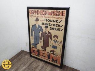 希少 フランスアンティーク 1930年 アールデコ  『GRAND BON MARCHE』 ビンテージポスター Gaston Ry 木屋ギャラリー取扱 ●
