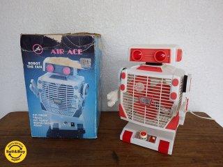 80年代 ロボット扇風機 / ROBOT THE FAN ピンク 箱付  お好きなポーズで風を送ります! ◇