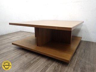 ウォールナット材 クラフト家具 コーヒーテーブル 天然木 ●