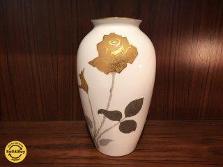大倉陶園 OKURA 金蝕バラ 花瓶 花器 フラワーベース ◎
