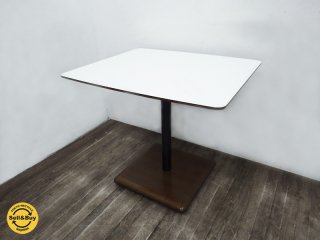 karimoku ( カリモク60+ / ロクマルプラス ) 展示美品 『 カフェテーブル 』 メラミントップ×無垢ラバーウッド ★