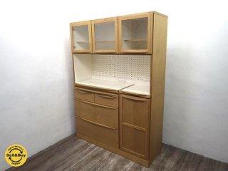 広松木工 カップボード 食器棚 アルダー材 LUCE ルーチェ ♪