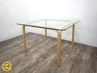 Artek アルテック アルヴァアアルト デザイン Y805B ガラステーブル 北欧 約17万●