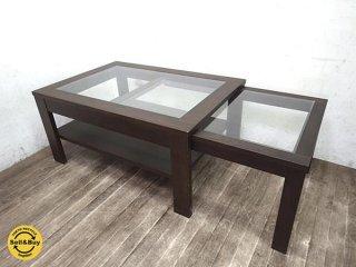 KEYUCA ケユカ エクステンドテーブル スライド伸長式 タモ材●