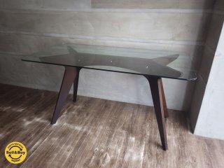 E&Y イーアンドワイ / PEGASUS ペガサス ダイニング ガラス テーブル アレックス・マクドナルド ♪