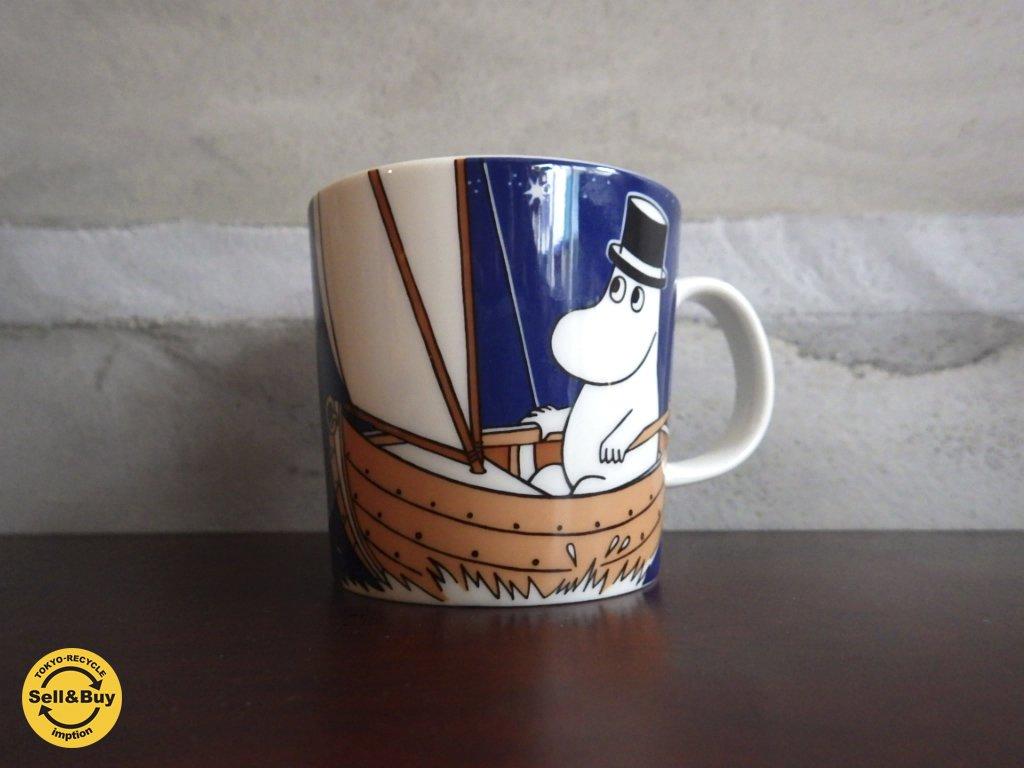 ARABIA アラビア ムーミン マグカップ ムーミンマグ  ムーミンパパ ディープブルー ♪