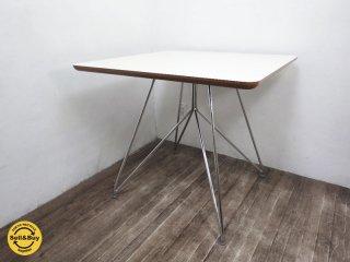 コトブキ60 センターテーブル スクエア メラミン天板 スチールレッグ 柳宗理 ●