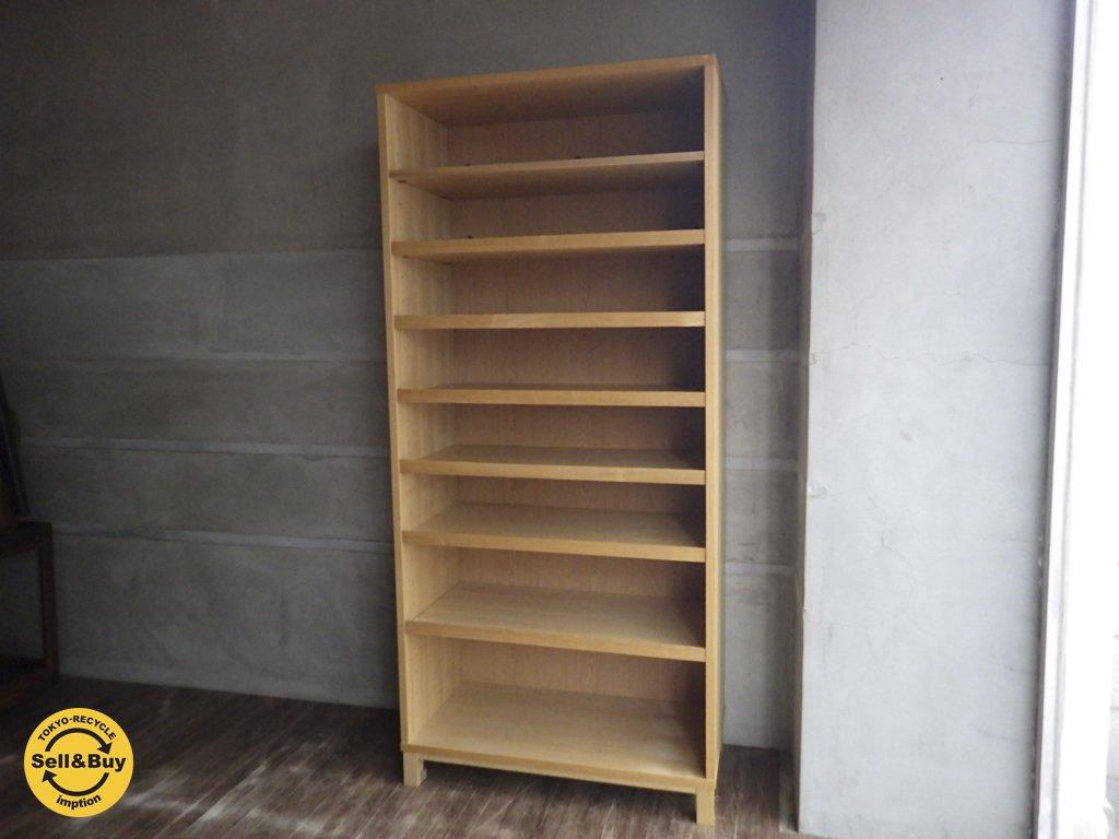 無印良品 MUJI ≪ 組み合わせて使える木製収納 ≫ ミドルタイプ 本棚 キャビネット ブックシェルフ ...