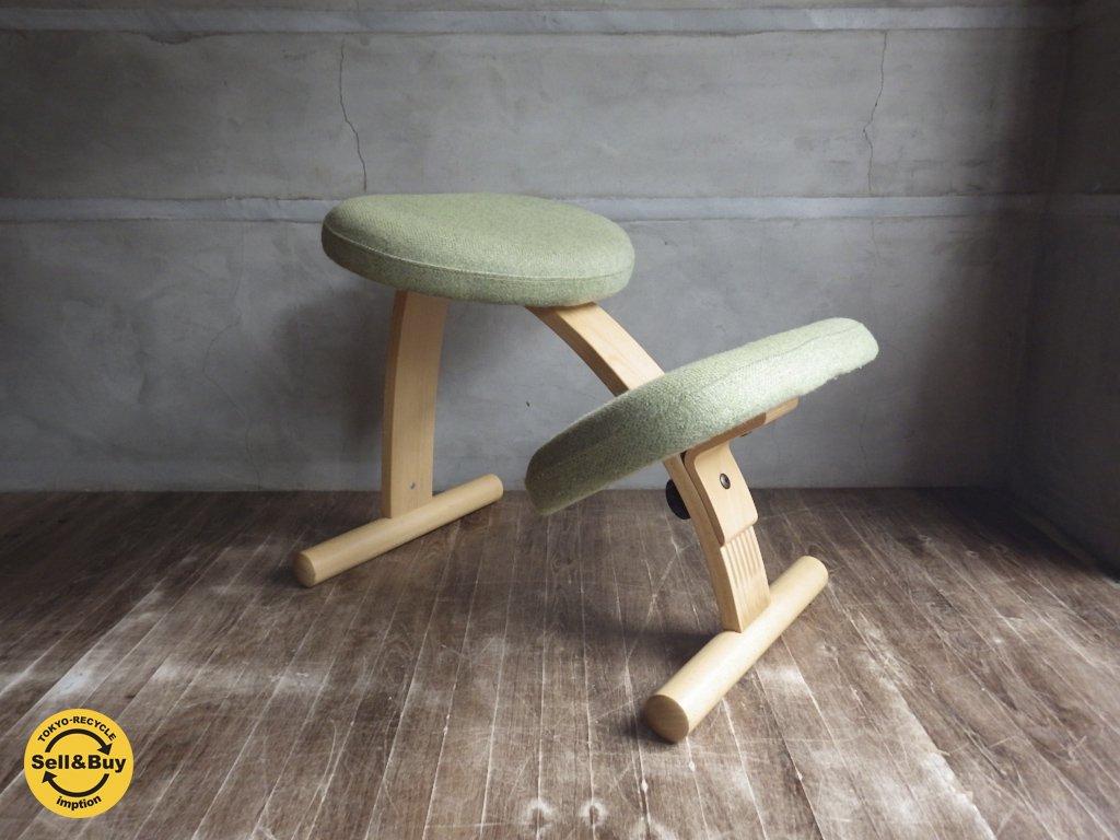 ノルウェー Rybo リボ / Balans EASY バランス イージー チェア 学習 イス 椅子 グリーン 展示品 ♪