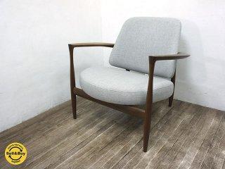 KITANI / キタニ IL-02 イブ・コフォード・ラーセン イージーチェア ウォールナット 展示品 ライトグレー 安楽椅子  展示美品 ●