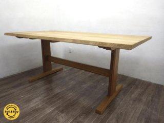 柏木工 kashiwa オーク材 楢無垢材  ダイニングテーブル 飛騨家具 ●
