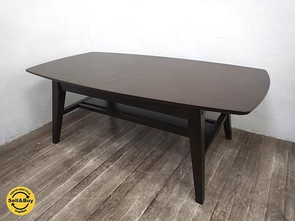 a.Flat エーフラット 木製 オーバル ローテーブル アッシュ材 105 ●