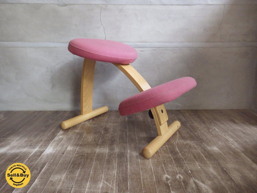 ノルウェー Rybo リボ / Balans EASY バランス イージー チェア 学習 イス 椅子 ピンク ♪
