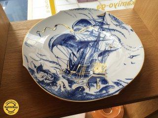 マイセン Meissen イヤープレート 1999年 スペイン船ガレオーネ Φ27cm ドイツ ◎