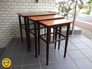 北欧 デンマーク ビンテージ ローズウッド ネストテーブル DENMARK  ■