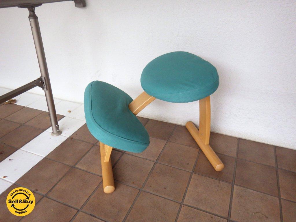 ノルウェー Rybo リボ社  Balans EASY バランスイージー ライトグリーン カバー付き 北欧デザイン チェア 学習椅子 ◇