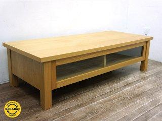 無印良品 MUJI タモ材 木製AVラック TV台 ナチュラル w108cm ★