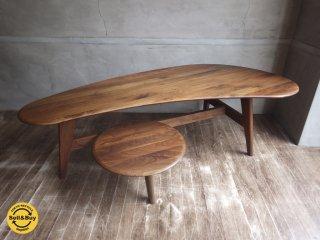 ウォールナット 無垢材 ローテーブル デザイン家具 ♪