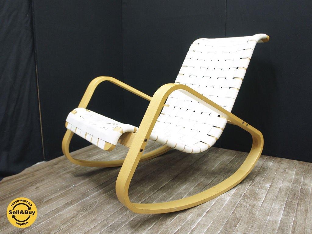 CRASSEVIG クラスヴィッグ Dondolo Roking Chair ドンドーロ ロッキングチェア 綿 ホワイト ●