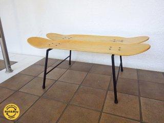 ヴィンテージスタイル スケートボード デッキ サイドテーブル ◇