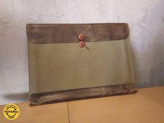 POSTALCO ポスタルコ  LEGAL ENVELOPES 書類 ノートパソコン 入れ 薄型バッグ 定価2.8万円 ♪