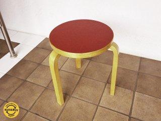 artek アルテック stool60 スツール60 リノリウム レッド ビンテージ A ◇
