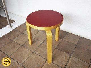 artek アルテック stool60 スツール60 リノリウム レッド ビンテージ B ◇