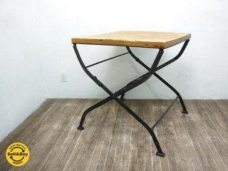 gyallupギャラップ購入 古材 アイアンフォールディングテーブル ◇