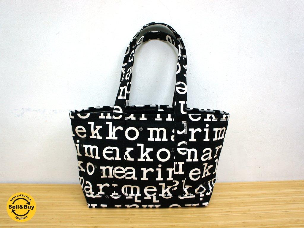 marimekko / マリメッコ マリロゴ・キャンバストートバッグ UUSI MATKURI アジア限定 ほぼ未使用品 ●